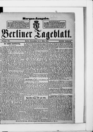 Berliner Tageblatt und Handels-Zeitung vom 01.03.1894