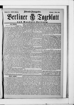 Berliner Tageblatt und Handels-Zeitung vom 07.03.1894