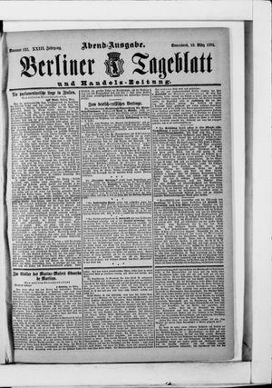 Berliner Tageblatt und Handels-Zeitung vom 10.03.1894