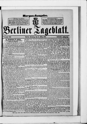 Berliner Tageblatt und Handels-Zeitung vom 11.03.1894