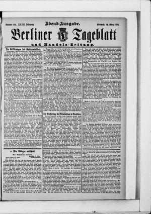 Berliner Tageblatt und Handels-Zeitung vom 14.03.1894