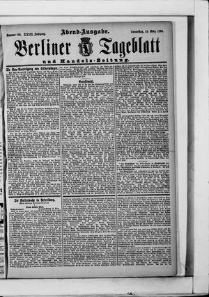 Berliner Tageblatt und Handels-Zeitung on Mar 15, 1894