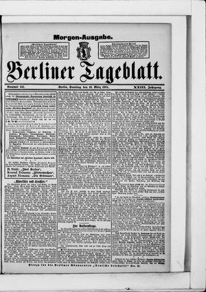Berliner Tageblatt und Handels-Zeitung vom 18.03.1894