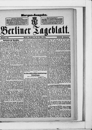Berliner Tageblatt und Handels-Zeitung vom 20.03.1894