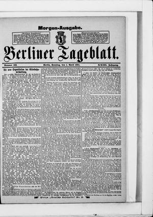 Berliner Tageblatt und Handels-Zeitung vom 01.04.1894