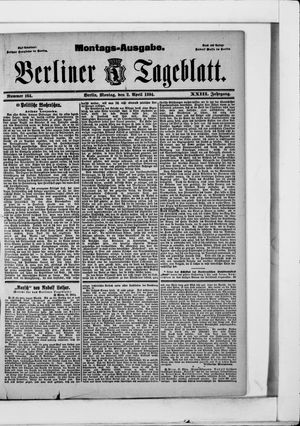 Berliner Tageblatt und Handels-Zeitung vom 02.04.1894