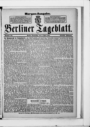 Berliner Tageblatt und Handels-Zeitung vom 05.04.1894