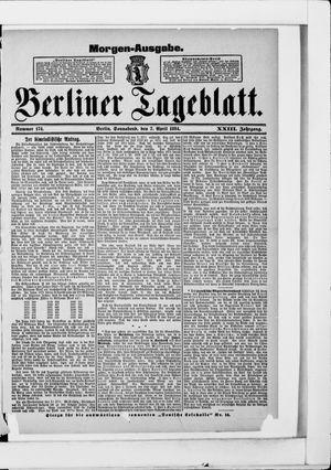 Berliner Tageblatt und Handels-Zeitung vom 07.04.1894