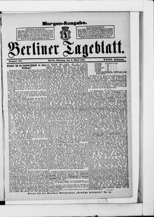Berliner Tageblatt und Handels-Zeitung vom 08.04.1894