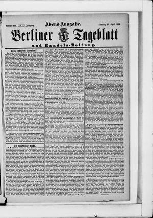 Berliner Tageblatt und Handels-Zeitung vom 10.04.1894