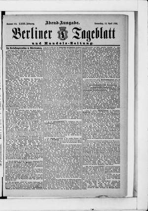 Berliner Tageblatt und Handels-Zeitung vom 12.04.1894
