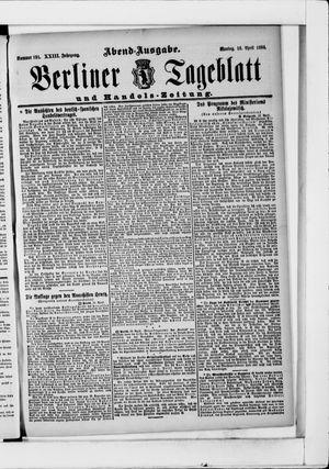 Berliner Tageblatt und Handels-Zeitung vom 16.04.1894