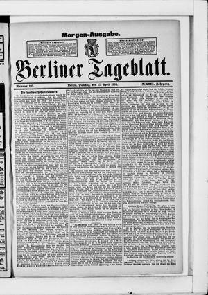 Berliner Tageblatt und Handels-Zeitung vom 17.04.1894