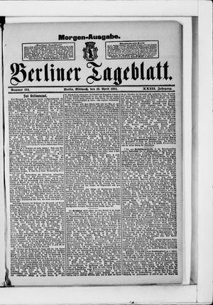 Berliner Tageblatt und Handels-Zeitung vom 18.04.1894