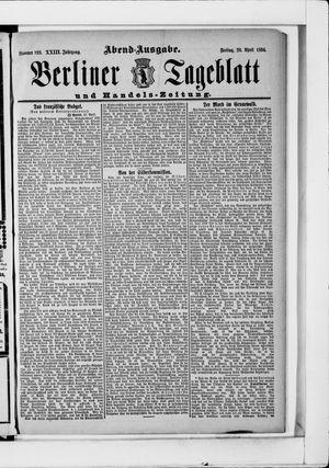 Berliner Tageblatt und Handels-Zeitung vom 20.04.1894