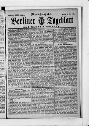 Berliner Tageblatt und Handels-Zeitung vom 23.04.1894