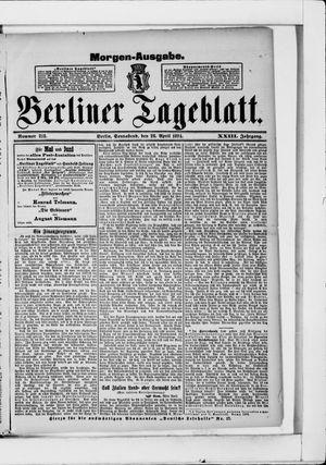 Berliner Tageblatt und Handels-Zeitung vom 28.04.1894
