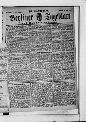 Berliner Tageblatt und Handels-Zeitung vom 30.04.1894