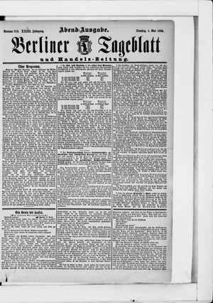 Berliner Tageblatt und Handels-Zeitung on May 1, 1894