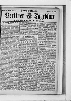 Berliner Tageblatt und Handels-Zeitung vom 03.05.1894
