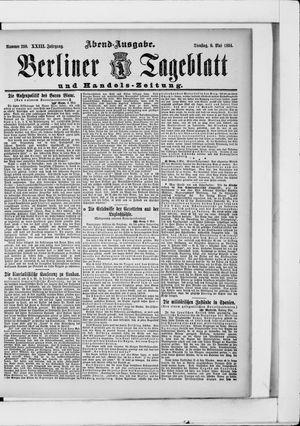 Berliner Tageblatt und Handels-Zeitung vom 08.05.1894