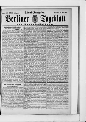 Berliner Tageblatt und Handels-Zeitung on May 12, 1894
