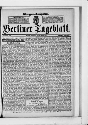 Berliner Tageblatt und Handels-Zeitung vom 13.05.1894