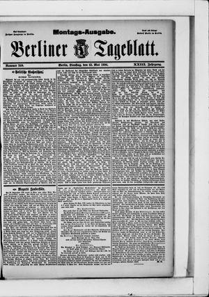 Berliner Tageblatt und Handels-Zeitung vom 15.05.1894