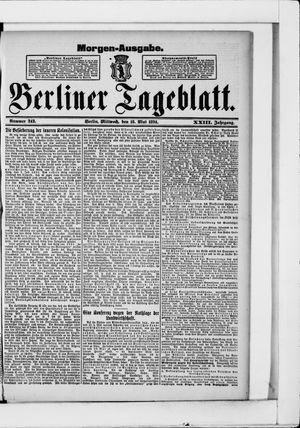Berliner Tageblatt und Handels-Zeitung vom 16.05.1894