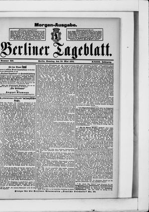 Berliner Tageblatt und Handels-Zeitung vom 20.05.1894