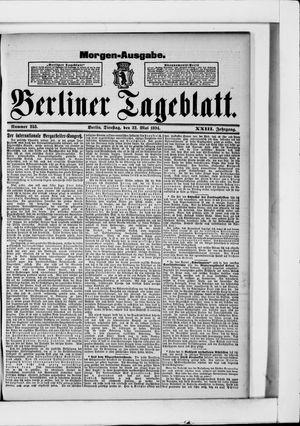Berliner Tageblatt und Handels-Zeitung vom 22.05.1894
