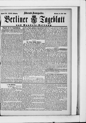 Berliner Tageblatt und Handels-Zeitung vom 23.05.1894