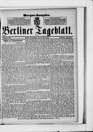 Berliner Tageblatt und Handels-Zeitung vom 24.05.1894