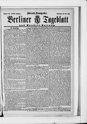Berliner Tageblatt und Handels-Zeitung vom 26.05.1894