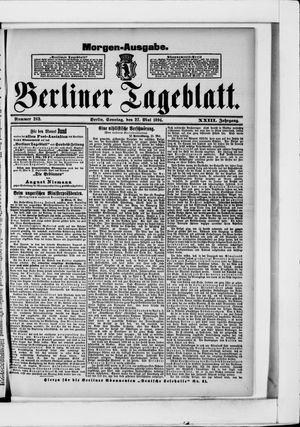 Berliner Tageblatt und Handels-Zeitung vom 27.05.1894