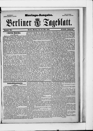 Berliner Tageblatt und Handels-Zeitung vom 28.05.1894