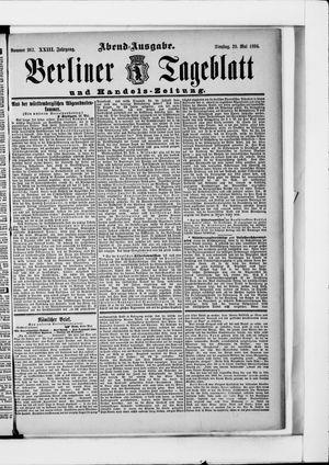 Berliner Tageblatt und Handels-Zeitung vom 29.05.1894
