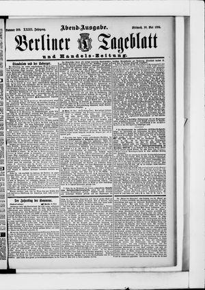 Berliner Tageblatt und Handels-Zeitung vom 30.05.1894