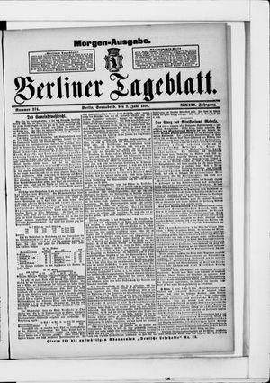 Berliner Tageblatt und Handels-Zeitung vom 02.06.1894