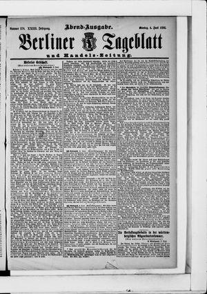 Berliner Tageblatt und Handels-Zeitung vom 04.06.1894