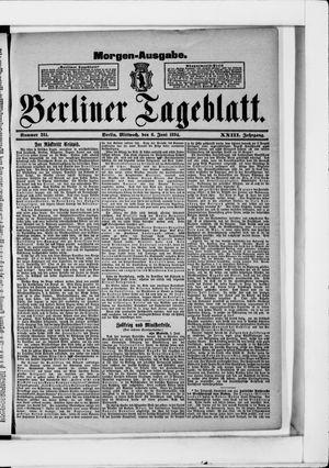 Berliner Tageblatt und Handels-Zeitung vom 06.06.1894