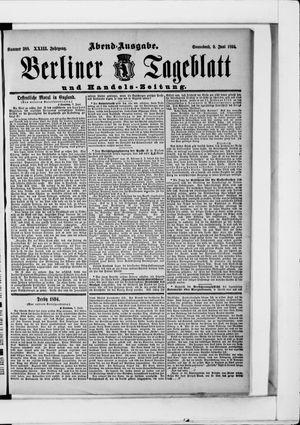 Berliner Tageblatt und Handels-Zeitung vom 09.06.1894