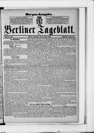 Berliner Tageblatt und Handels-Zeitung vom 10.06.1894