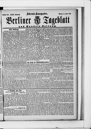 Berliner Tageblatt und Handels-Zeitung vom 11.06.1894