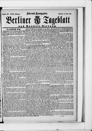 Berliner Tageblatt und Handels-Zeitung vom 13.06.1894