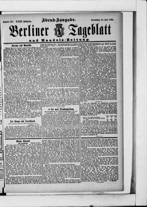 Berliner Tageblatt und Handels-Zeitung vom 14.06.1894