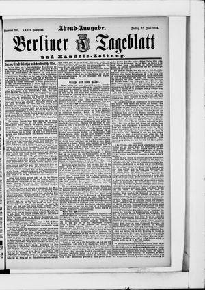 Berliner Tageblatt und Handels-Zeitung vom 15.06.1894