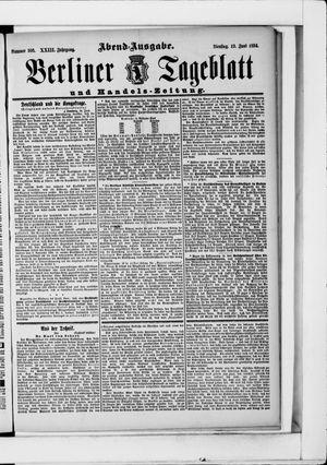 Berliner Tageblatt und Handels-Zeitung vom 19.06.1894