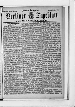 Berliner Tageblatt und Handels-Zeitung vom 20.06.1894