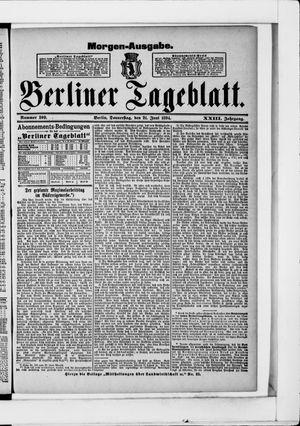 Berliner Tageblatt und Handels-Zeitung vom 21.06.1894